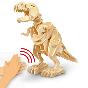 Sound Control T-Rex Wooden Figure - DIY