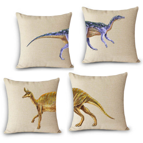 Dinosaur Printed Decorative Cushion Covers / Pillow Cases