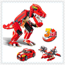 3-in-1 Dinosaur Transformer (Dino + Plane + Car)