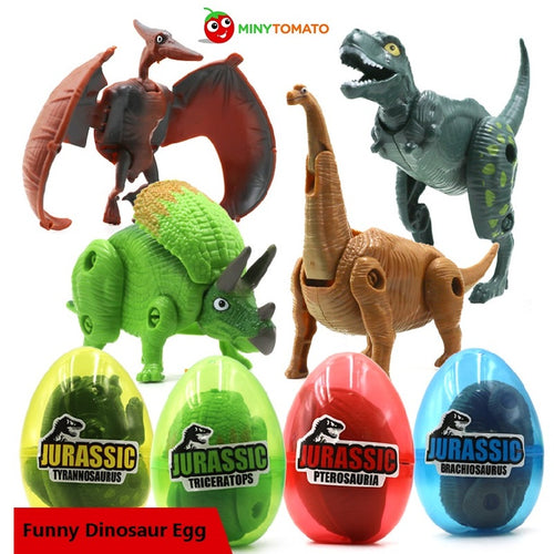 4pc Mini Dinosaurs In Eggs