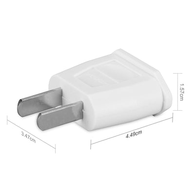 6X USA Reiseadapter US Reisestecker EU USA Adapter travel Plug usa Typ A Steckdosenadapter USA Kanada Mexiko, weiß