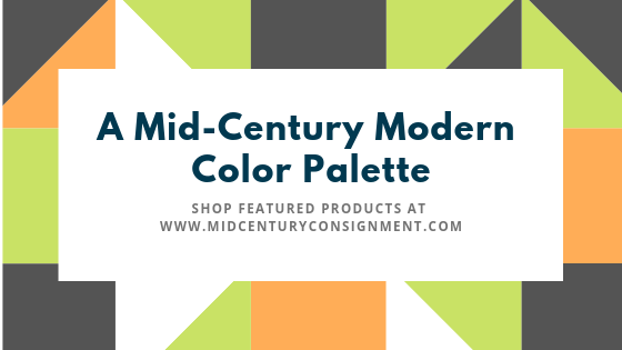 The Mid-century Modern Color Palette