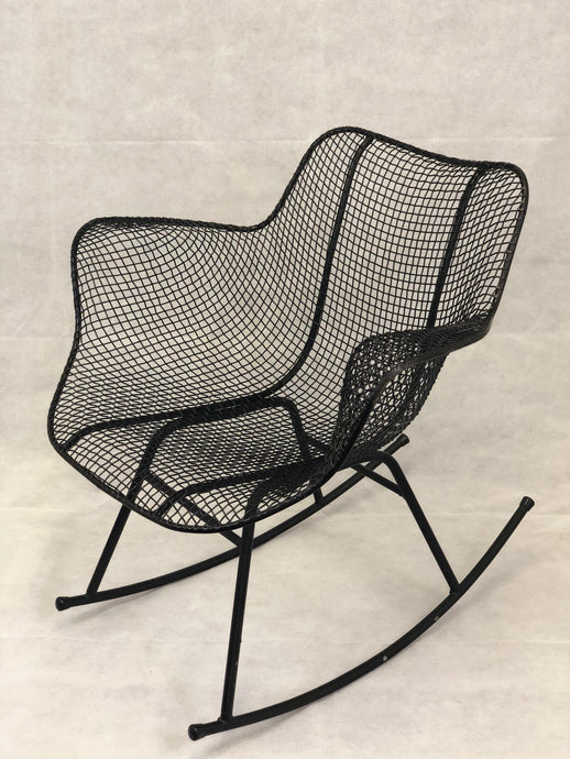 Russell Woodard Black Sculptura Rocking Chair
