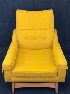 Adrian Pearsall Mustard Lounge Chair 1960's