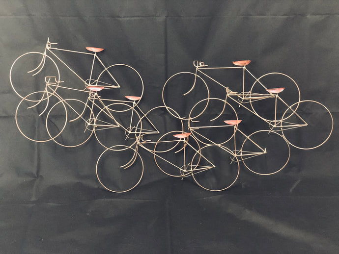 Curtis Jere Style Hanging Bike sculpture