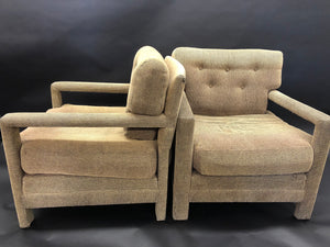 Pair of Milo Baughman Parsons Lounge Chairs