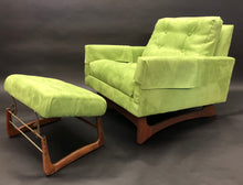 Load image into Gallery viewer, Adrian Pearsall Avocado Green Lounge Chair w/ added Ottoman