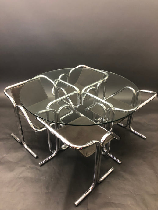 Jerry Johnson Tubular Chrome Dining Set