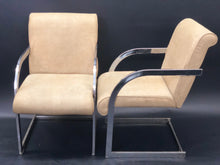 Load image into Gallery viewer, Baughman Style Vintage Pleather and Chrome Cantilever Dining Chairs | Mid-Century Modern