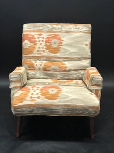 Pearsall Style Lounge Chair and Matching Hassock