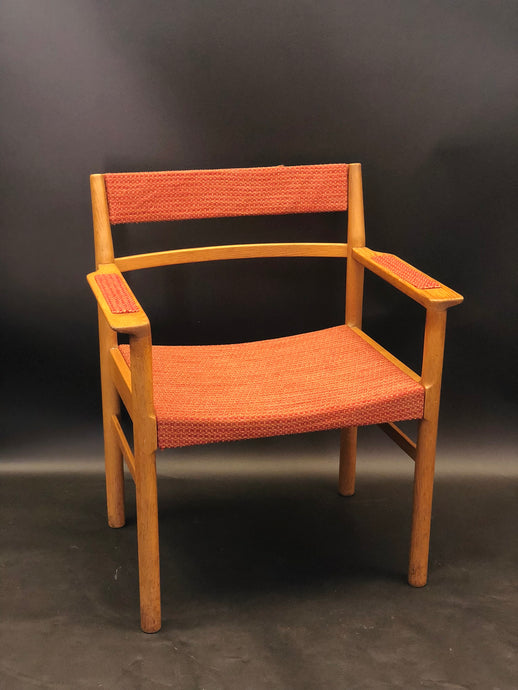 Danish Upholstered Dining Chair | Mid-Century Modern | Vintage 1970s