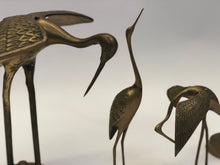 Load image into Gallery viewer, Brass Crane Vintage Figurines | Mid-Century Modern | 60s-70s | Set of 4