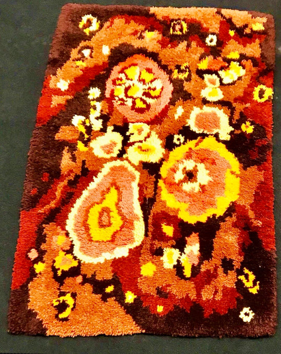 NEW EGE RYA SHAG RUG MID-CENTURY DANISH MODERN WOOL ABSTRACT Psychedelic Panton