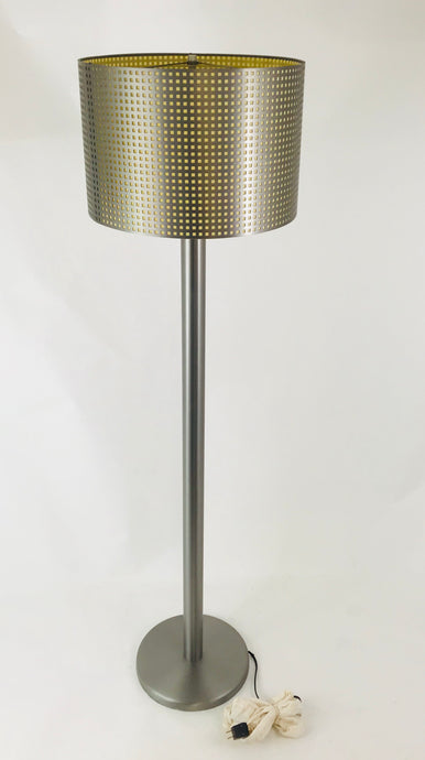 Contempary Brushed Stainless Steel Standing Floor Lamp CSA Canada Portable Lamp
