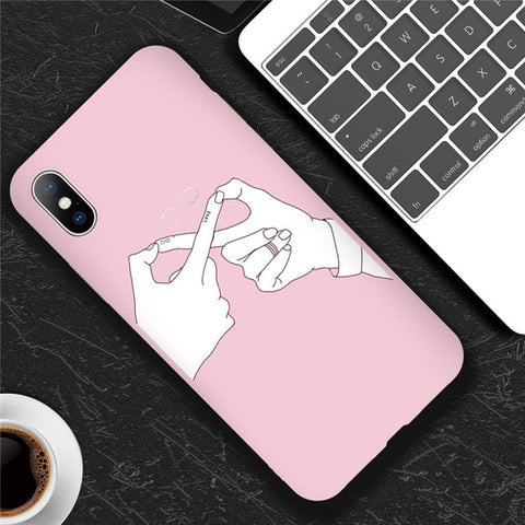 Infinite Fingers Love Pink Case
