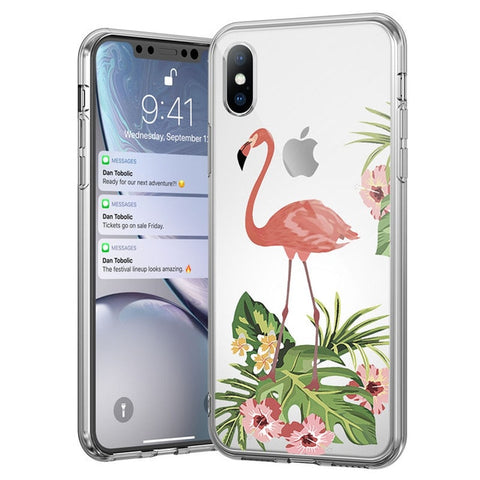 Flamingo n' Leaves Case
