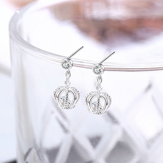 Princess Crown Drop Earrings - Cofairy