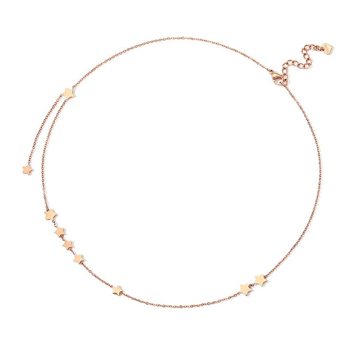 Golden Star Layering Necklace - Cofairy