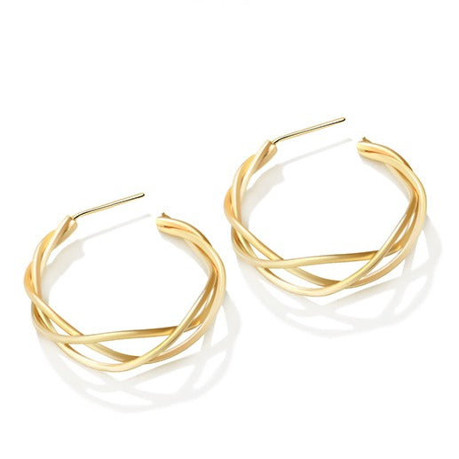 Irregular Ring Shape Hoop Earrings - Cofairy