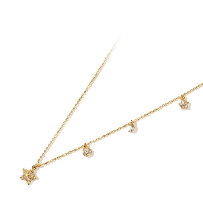 Golden Star and Moon Chic Choker - Cofairy