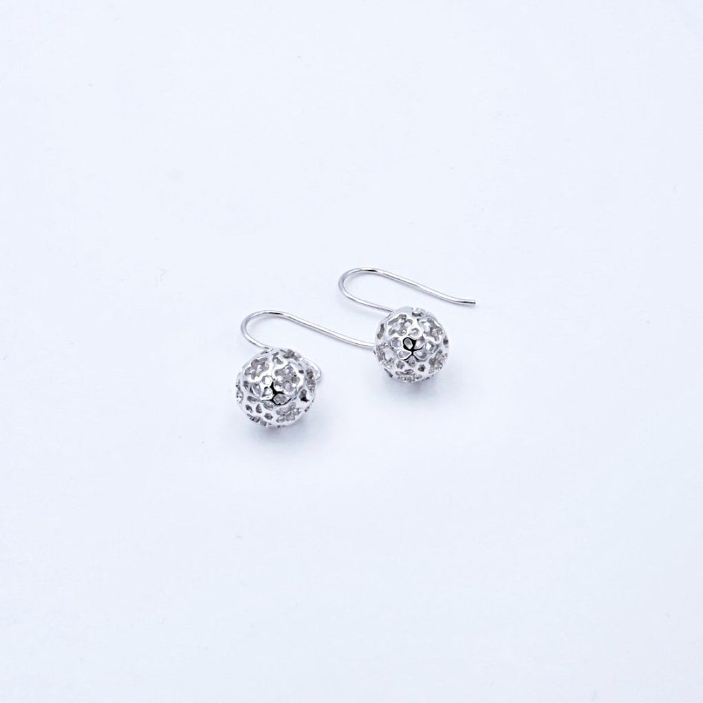 Super Delicate Hollow Flower Ball Earrings - Cofairy