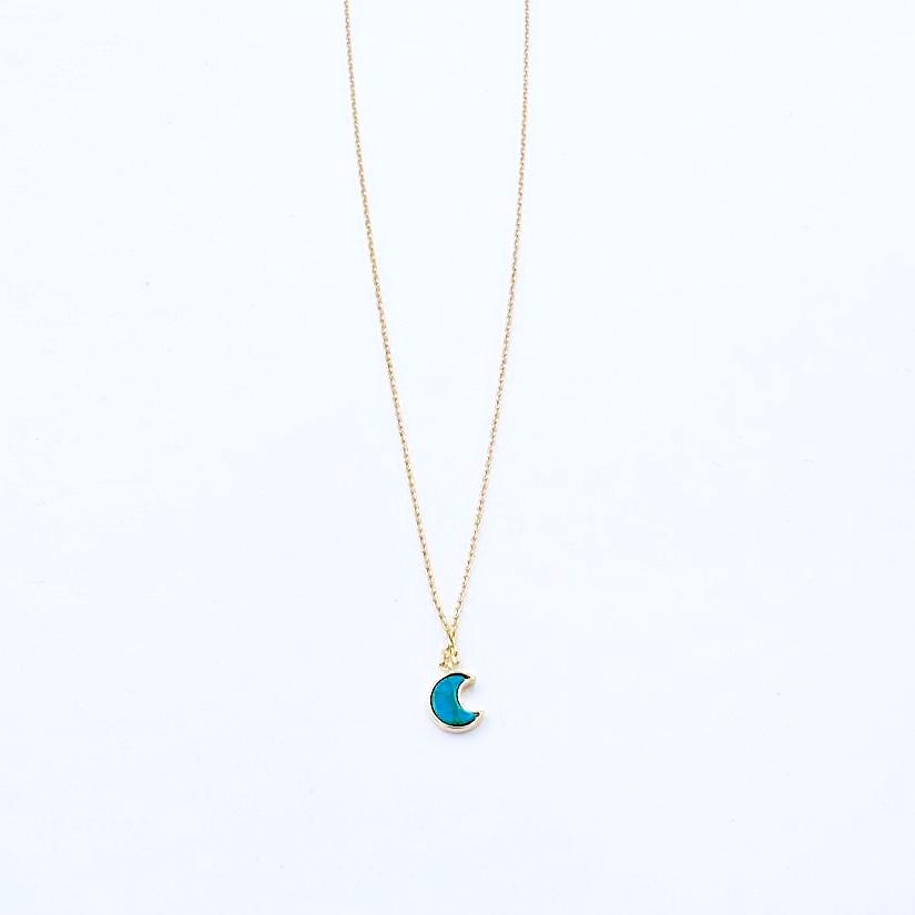 Minimal Blue Moon Necklace - Cofairy