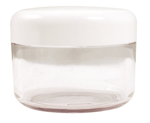 Clear Jar White Lid medium BD-040