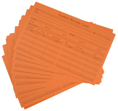 Taning Record Card 100pk SA-016