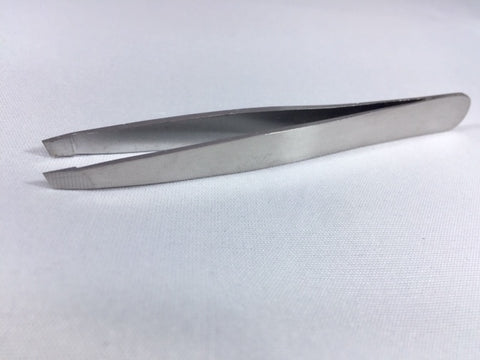 Slanted Tweezers Stainless Steel BB-015