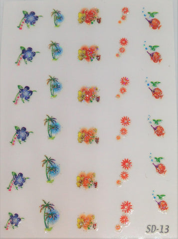Nail Sticker Flowers NA-013