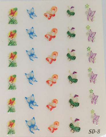 Nail Sticker Butterfly NA-012
