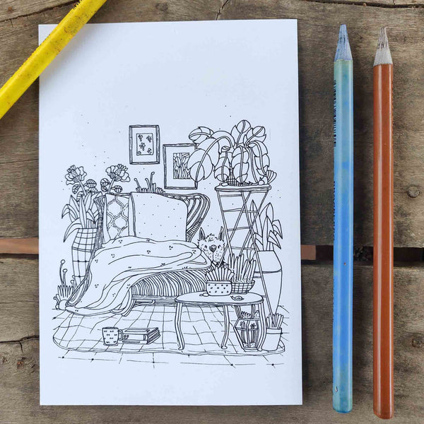 Colour-in postcard (pack of 5 postcards)
