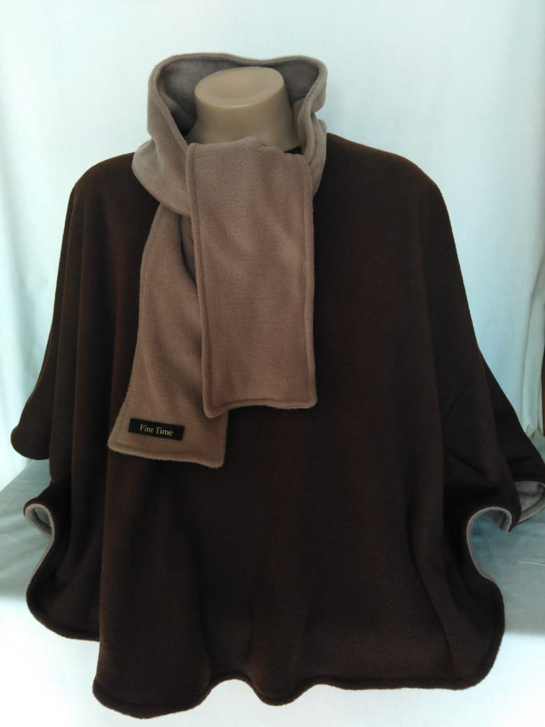 Reversible Scarfed Poncho