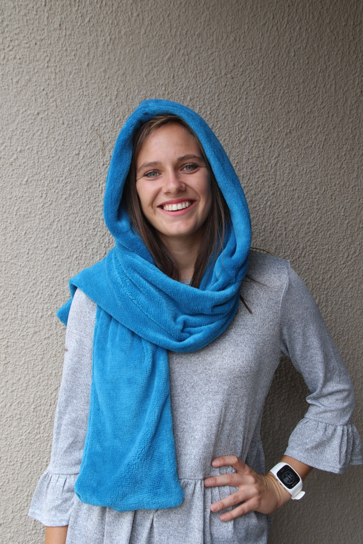 Hooded Scarf Blue