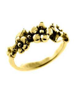 Five Flower Forget-me-not Ring (18ct Gold)
