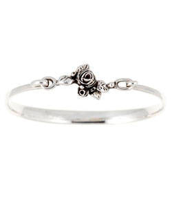 Flowering Hobart Rose Bracelet (Silver)