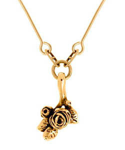 Flowering Hobart Rose Pendant (18ct Rose Gold)