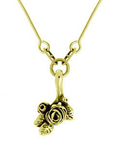 Flowering Hobart Rose Pendant (18ct Gold)
