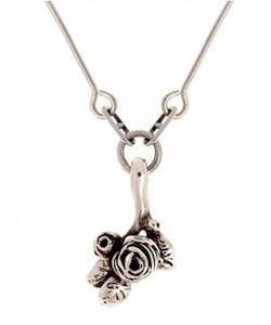 Flowering Hobart Rose Pendant (Silver)