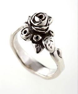 Flowering Hobart Rose Ring (Silver)