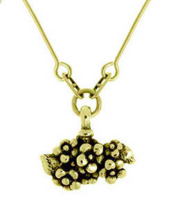 Forget-me-not Cluster Pendant (18ct Gold)