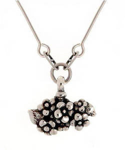 Forget-me-not Cluster Pendant (Silver)