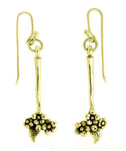 Forget-me-not Drop Earrings (18ct Gold)