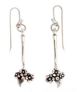 Forget-me-not Drop Earrings (Silver)