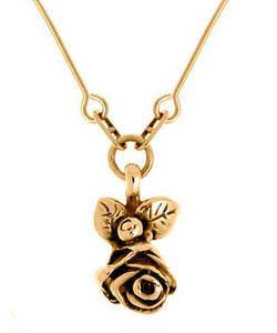 Full Bloom Hobart Rose Pendant (18ct Rose Gold)