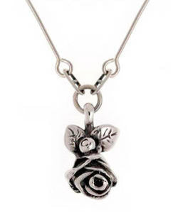 Full Bloom Hobart Rose Pendant (Silver)