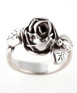 Full Bloom Hobart Rose Ring (Silver)