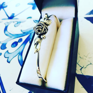 Full Bloom Hobart Rose Bracelet (Silver)