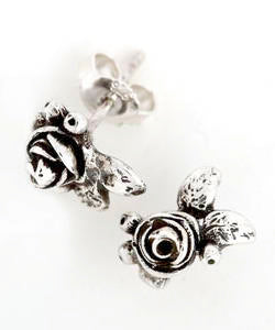 Hobart Rose Earrings (Silver)