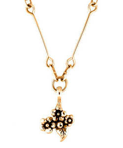 Short Stem Forget-me-not Pendant (18ct Rose Gold)